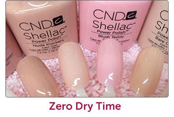 CND Shellac Manicures and Pedicures